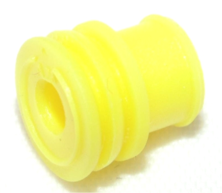 Wire Seal, TE Connectivity AMP Timer, Yellow, 3.4-3.7mm Insulation
