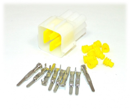 9 Way Yazaki YL Series Connector Kit Male, inc. terminals and seals