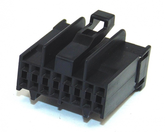 16Way TE Connectivity DLI Double Lock Housing Black