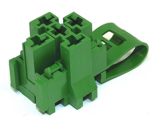 5 Way TE Connectivity  Relay Base Green