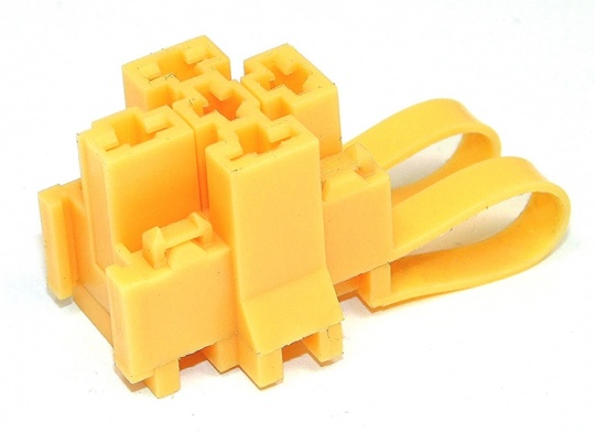 5 Way TE Connectivity Relay Base Yellow