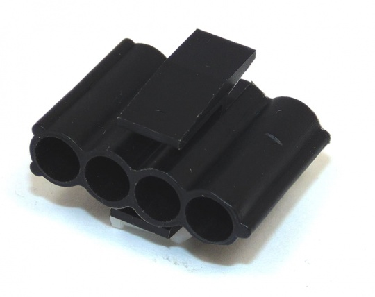 4 Way TE Connectivity 3M/M Socket Housing Black
