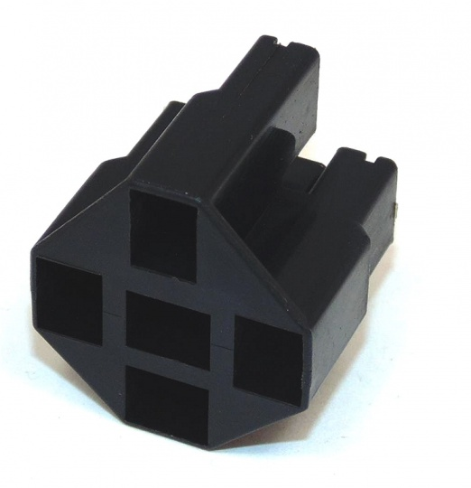 5 Way TE Connectivity Positive Lock 250 Relay Hsg Female Black