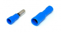 Insulated Bullet Connector, Male and Female Pair, Blue