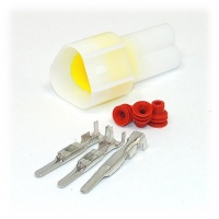 3 Way Yazaki YL Series Connector Kit Male, inc. terminals and seals