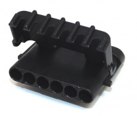 6 Way Delphi Weather-Pack Connector Male Black