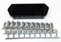 20 Way Lucas Rists, Bulkhead Blade Fuse Holder Black Kit Including Terminals