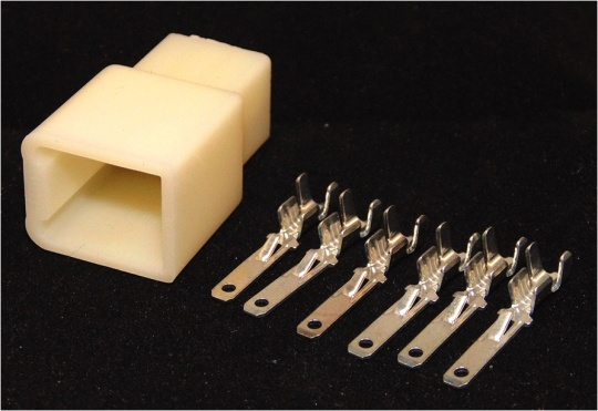 Sumitomo 6 way MTW Series 2.8mm(110) Male Natural Inc. Terminals