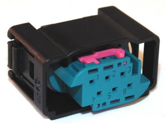 Housing, 6 Way, TE, MQS, Kit inc terminals and seals