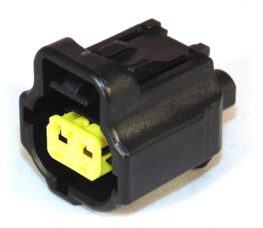 2 Way TE Sealed Sensor Connector Housing Black Key J
