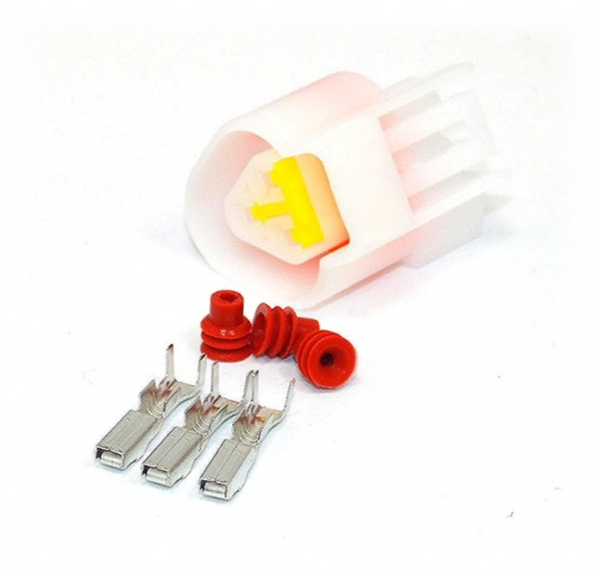 3 Way Yazaki YL Series Connector Kit Female, inc. terminals and seals