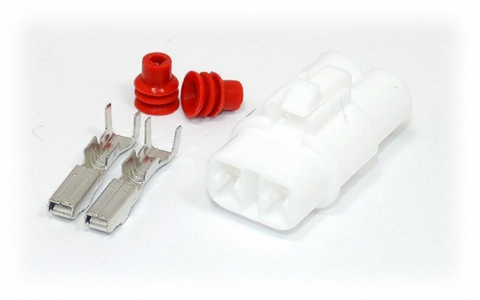 2 Way Yazaki YL Series Connector Kit Female, inc. terminals and seals