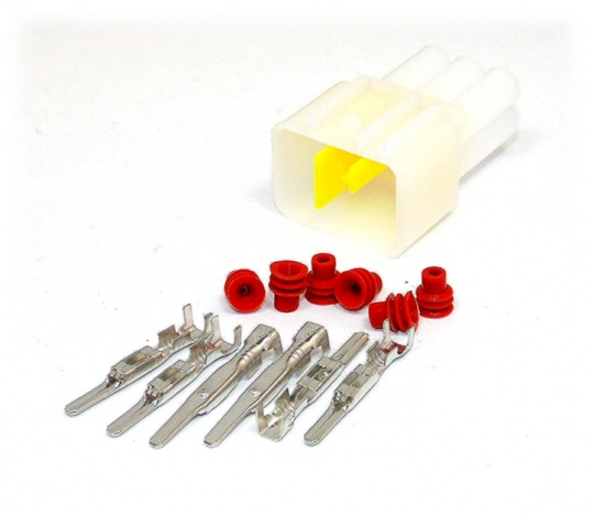 6 Way Yazaki YL Series Connector Kit Male, inc. terminals and seals