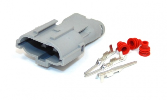 3 Way Yazaki Sealed Connector Kit Male, inc. terminals and seals