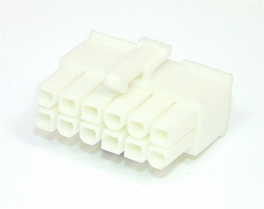 12 Way Molex Mini-fit Jr 5557 Housing White Female