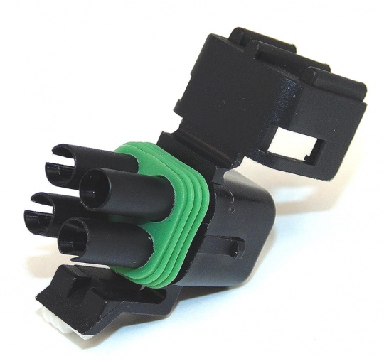 4 Way Delphi Weather-Pack Connector Female Black