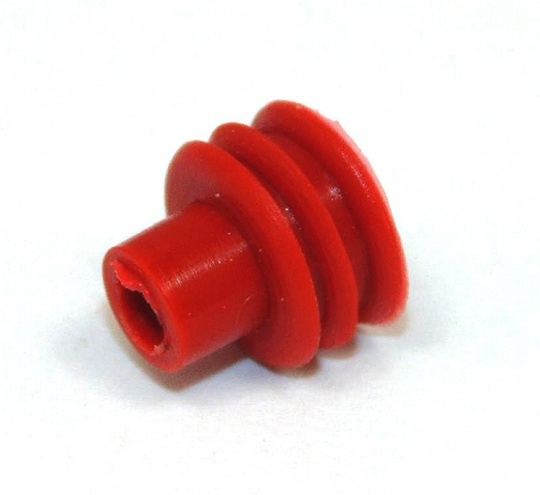 Wire Seal, Delphi, 3.45-4.3mm cable OD, Red