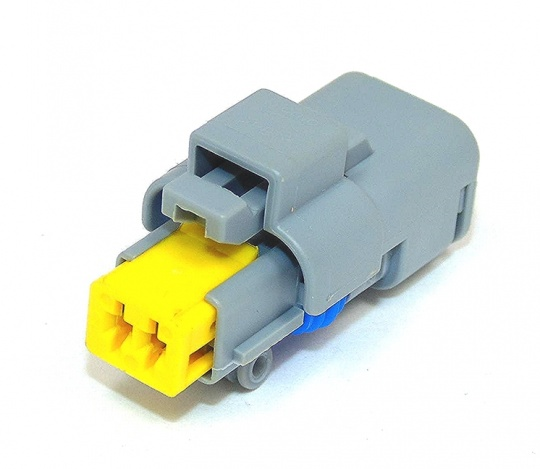 2 Way Delphi Sicma 1.5 Connector Female Grey/Yellow