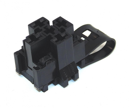 5 Way TE Connectivity  Relay Base Black