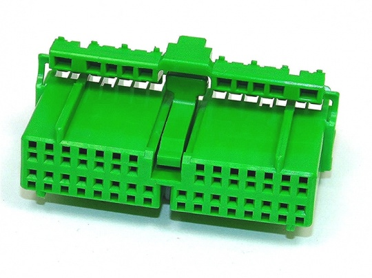 30 Way JAE IL-AG5 Series Green Female Housing