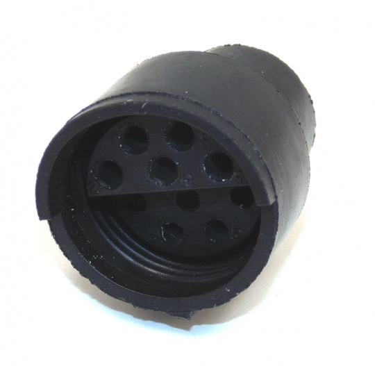 10 Way ITT Cannon Sure-Seal Housing Black