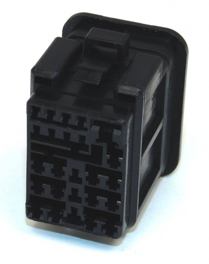 25 Way Sumitomo 11x(040)+13x(090)+(1x187) Hybrid sealed connector Fem Black