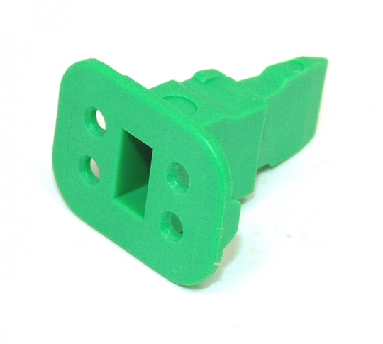 4 Way DEUTSCH DT Wedge Lock Green