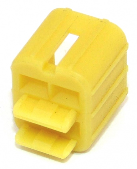 4 Way TE Connectivity Econoseal III 070 Yellow Anti-Backout