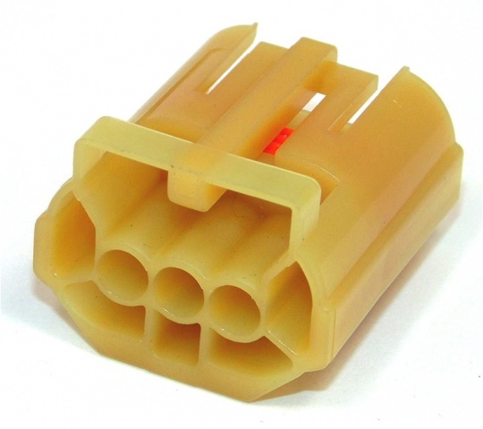 3 Way TE Connectivity Econoseal III 070 Female Yellow