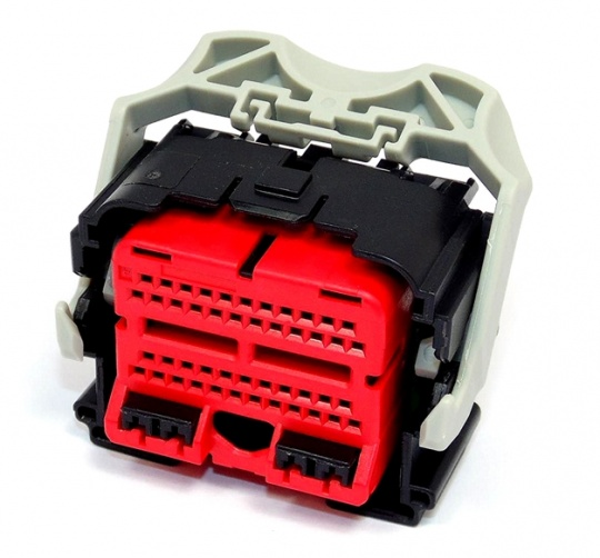 50 Way TE Get .64 Connector System Female Black/Red Key A