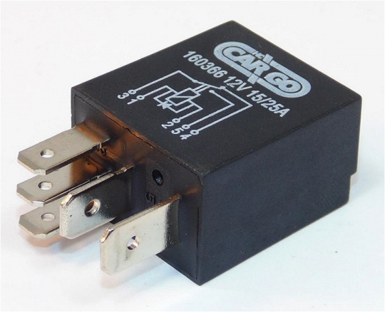 Bosch Micro Changeover Relay 12V 15/25A with diode