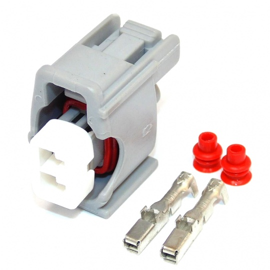 Sumitomo 2 Way TS Sealed Series Denso Injector Connector Female Grey 2.3mm(090) Inc terminals and seals