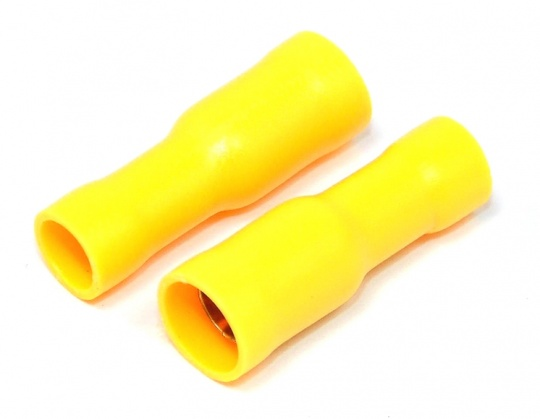 Insulated Bullet Connector Female Yellow