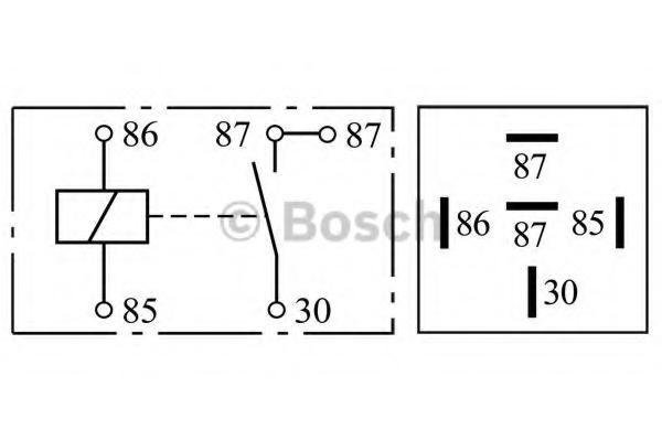 bosch mini relay spst 5 pin 12 v 30 a with bracket