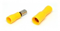 Insulated Bullet Connector, Male and Female Pair, Yellow