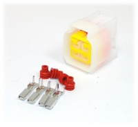 4 Way Yazaki YL Series Connector Kit Female, inc. terminals and seals