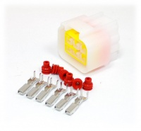 6 Way Yazaki YL Series Connector Kit Female, inc. terminals and seals
