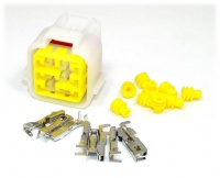 9 Way Yazaki YL Series Connector Kit Female, inc. terminals and seals