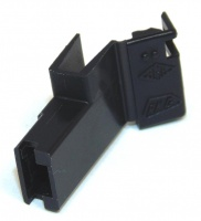 1 Way 6.3mm Flag Terminal Hsg Black