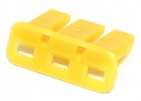 3 Way TE Connectivity Econoseal III 070 Anti-Backout Yellow