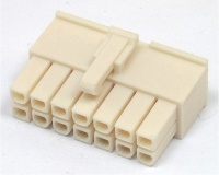 14 Way Molex Mini-fit Jr. 5557 Series Female White