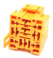 9 Way Lucas Rists Yellow Relay Base Holder