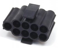 9 Way TE Connectivity 3mm Socket Hsg Black