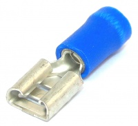 Insulated 6.3mm Receptical Female Blue 1.5-2.5mm² (16-14awg)