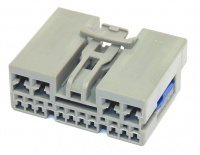 14 Way YAZAKI YESC Connector Hybrid 10x0.64 + 4x2.80mm Female Light Grey