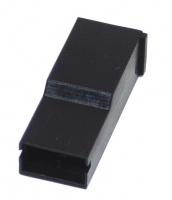 1 Way 6.3mm Posilock Terminal Cover Black