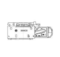 Bosch Female 154P-E EMS Contact Housing 58 Way Code A Exit right 1.2/2.8mm