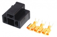3 Way H4 HID Headlight Connector Female Black inc Terminals