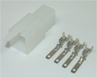 Sumitomo 4 way MTW Series 2.8mm(110) White Male Inc. Terminals