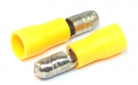 Insulated Bullet Connector Male Yellow